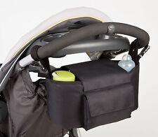 Allis 2in1 Pram Storage Buggy Organizer Changing Bag Black Large Size