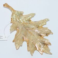 BATH & BODY WORKS SPARKLY GLITTERY GOLD LEAF MAGNET LARGE 3 WICK CANDLE DECOR