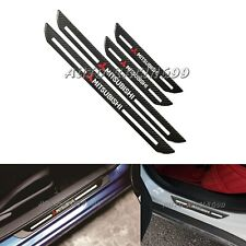 4x Mitsubishi Carbon Fiber Car Door Welcome Plate Sill Scuff Cover Panel Sticker