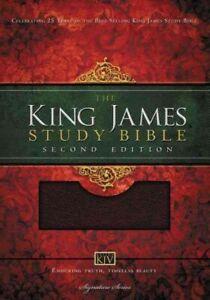 Holy Bible : King James Version, Study Bible, Burgundy Bonded Leather, Paperb...