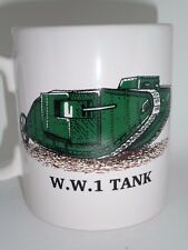 World War 1 Army Tank Mug,  Military Vehicle, Military Tank Gift, WW1