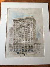 New England Building Co., Cleveland, Oh, 1894, Original Plan Hand-colored