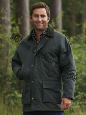 Waxberry Classic Cotton Wax Jacket Padded Country Coat Hunting Riding fishing