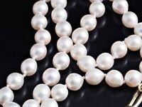 Akoya Zucht Perlen Collier Kette 585 Gelb Gold 14 Karat ca. 32,68 Gramm