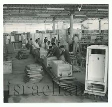 Vintage Photo Philco Fridge Earliest Assembly line in Israel Factory Jewish Art