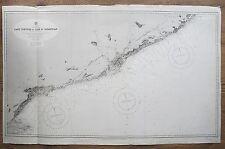1892 SPAIN CAPE TORTOSA FO CAPE ST SEBASTIAN GENUINE VINTAGE ADMIRALTY CHART MAP