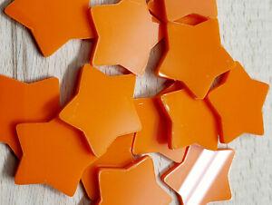 Orange Acrylic Stars • 15 Pk • Acrylic Shapes • Craft Items • Reward/Chart Stars