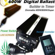 Hydroponics 600W 400W HPS MH Dimmable Digital Ballast Build in Timer As Solistek