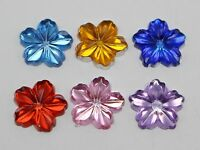 200 Mixed Color Acrylic Flatback 3D Flower Rhinestone Cabochons 13mm DIY Craft