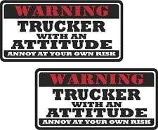 """2 - 3"""" Trucker Funny Worker Warning Tools Auto Motorcycle Decal Hat Sticker WS1"""