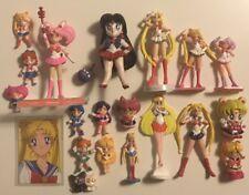 Authentic Vintage Sailor Moon Figure Lot + Painted Mars Resin Kit (Bandai, etc.)