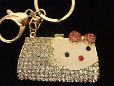 Gift Luxury HANDBAG & CAT KEYRING GIFT - Crystal Jeweled - NEW