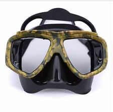 Silicone Scuba Diving Mask Spearfishing Glass Commercial Tempered Camouflage