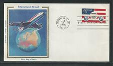 """# C90 INTERNATIONAL AIRMAIL 1976 Colorano """"Silk"""" First Day Cover"""