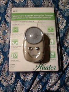 NEW Hunter Universal 3 Speed Remote Control For Fan & Light Model 99121 Open Box