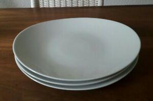 TOGNANA Italy SAMBA 3 x Speiseteller Fisch Steak Porzellan oval Ø 30x 25,5