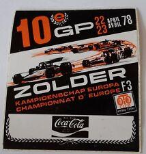 Aufkleber ZOLDER GP 1978 F3 EM Formel 3 Sticker Autocollant Coca-Cola