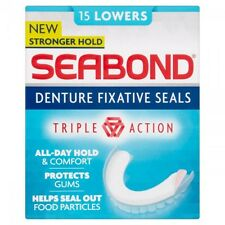 SEABOND Triple Action Denture Fixative Seals 15 Lowers