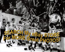 ALL Hell BREAKS Loose in St. LOUIS Bruins GO to RESCUE Sanderson BLUES 8X10 COOL