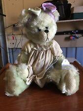 Shaz Bears Hand Made Green Mohair Bear