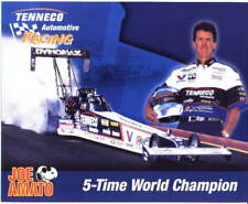 "1999 Joe Amato Tenneco ""White Shirt"" Top Fuel NHRA postcard"