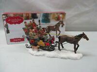 St Nicholas Square Village Sleigh Ride Horse Christmas Accessory IOB (AL)
