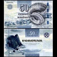 Faeroe Faroe Islands 50 Kronur, 2011(2012), P-29, UNC>New Signature And Security