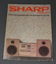 1980 VTG SHARP Boombox Cassette Tape Player Recorder Audio Hi-Fi Catalog Booklet