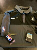 NBA NIKE BROOKLYN NETS DRI-FIT COACHES POLO SHIRT EXCLUSIVE ON COURT SIZE M