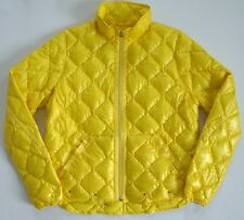 $398 Authentic RALPH LAUREN BLUE Label Yellow Quilted DOWN Jacket Puffer L