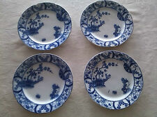 antique lot of four petrus regout maastricht nankin blue delft