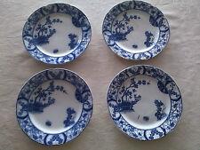 antique PETRUS REGOUT maastricht NANKIN blue delft - lot of 4 pcs