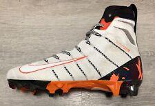New Nike Vapor Untouchable 3 Elite Football Cleats White Orange Men's size 9.5