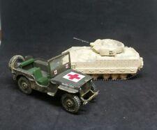 Gorgi Lot of 2 LOOSE  Bradley Pay Back Tank & Willys Jeep Medic WWII