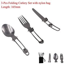 3 in1 Folding Fork Spoon Knife Spork Picnic Camping BBQ Hiking Tableware Cooking