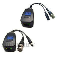 4 Pair CCTV Coax BNC Video & Power Balun Transceiver to CAT5e 6 Surge Protection