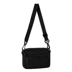 LeSportsac Solid Collection Convertible Crossbody Belt Bag in Studio Black NWT