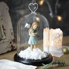 Decorative Heart Glass Dome/Tabletop Centerpiece Cloche Bell Jar Display Case