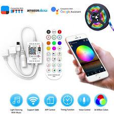 Smart WiFi RGB LED Ruban Controleur avec Télécommande pour Android IOS APP 12V