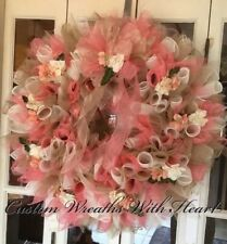 Wreaths all custom,homemade with heart. Any color, theme ,profession, home decor