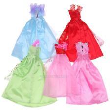 5Pcs Party Handmade Dress Doll Accessories Clothes + 10 Pairs Plastic Shoes Set