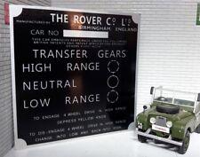 Land Rover Série 1 2 88 109 Lampe Gear / Transfert Boite Information