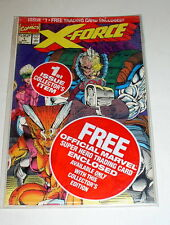 X-FORCE #1  STILL POLY-BAGGED WITH   THE DEADPOOL    TRADING CARD