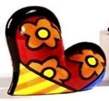 ROMERO BRITTO HEART FIGURINE RED WITH FLOWERS