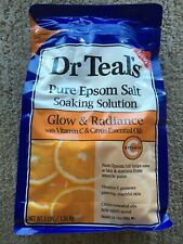 Dr. Teal's Glow & Radiance Vitamin C & Citrus Essential Oils Pure Epsom Salt New