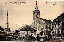 CPA  Les Estables - La Place - Eglise la plus élevée des Cévennes  (202891)