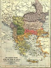 7x5 Photo ww1DB3 World War 1 Map Showing The Balkan States 1912 1300 1 4