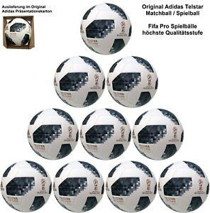 10x Adidas Telstar 18WM Original Matchball Bola de Partido Paquete Fifa Quality