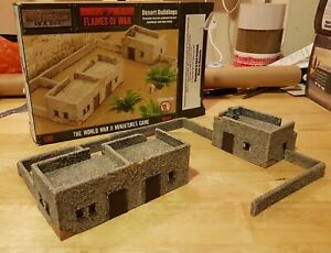 Battlefield in a box Flames of war terrain Desert Buildings and walls 15mm