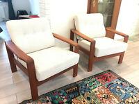2 Armchair Lounge Sessel Easy Chair Stuhl Dänemark Teak Sessel Vintage 60er 70er